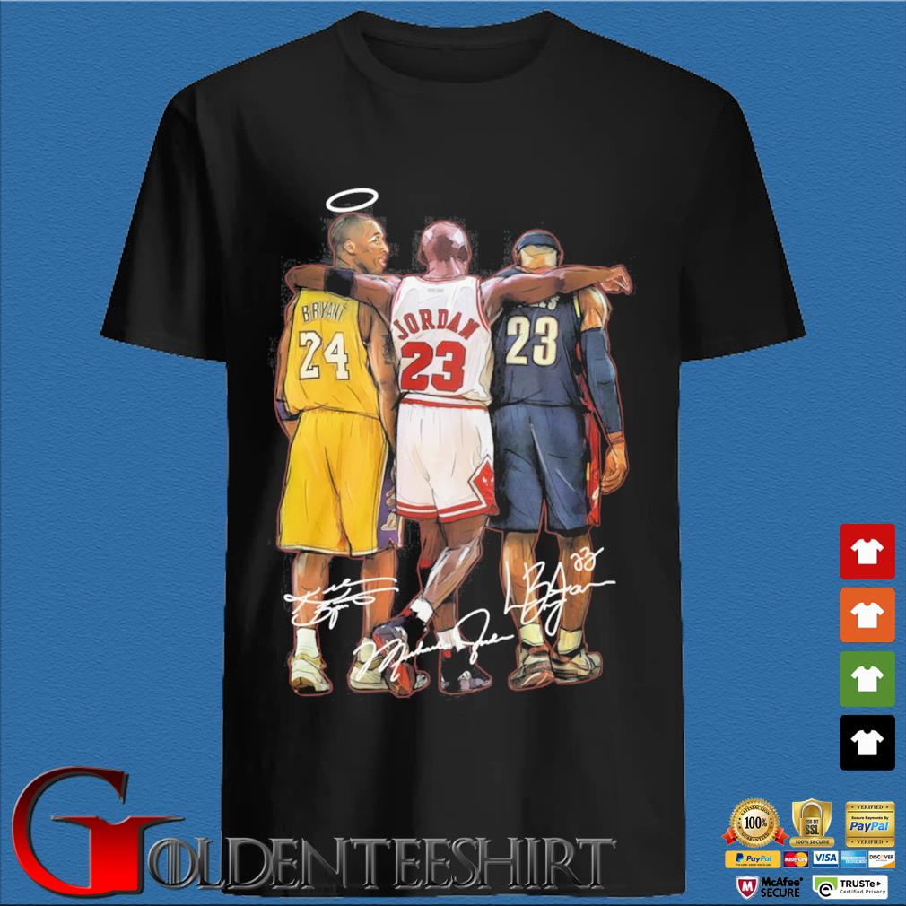 Kobe Bryant Michael Jordan Lebron James signatures shirt