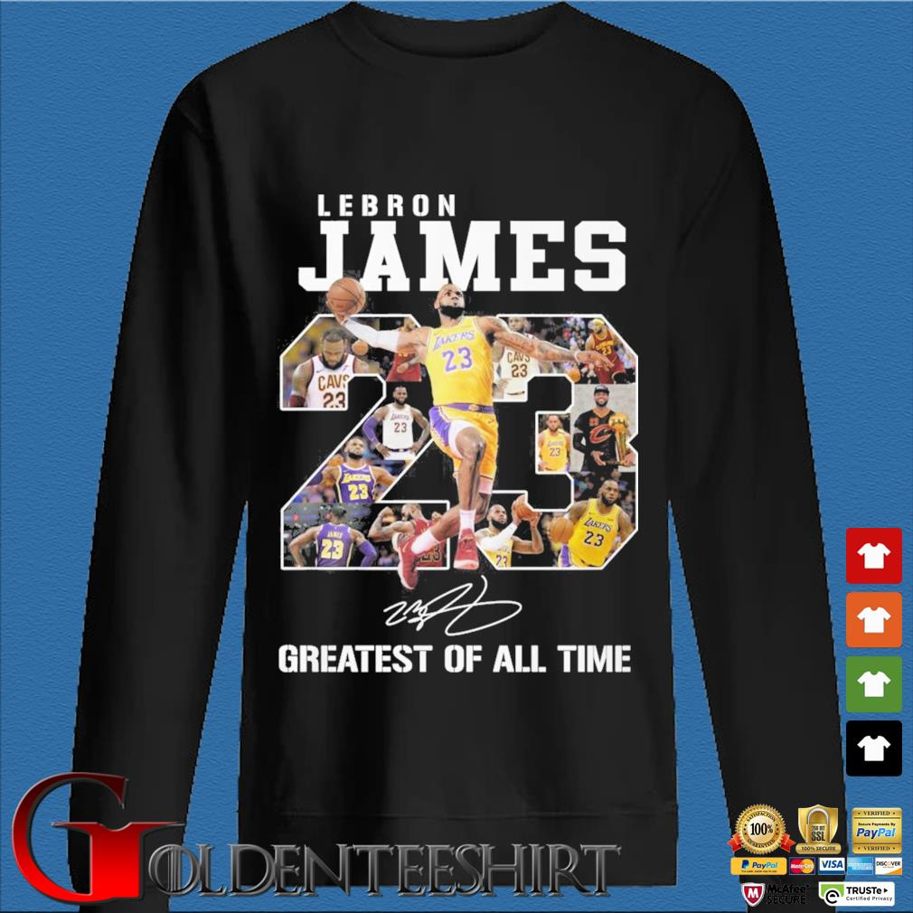 Lebron James 23 greatest of all time signature s Den Sweater
