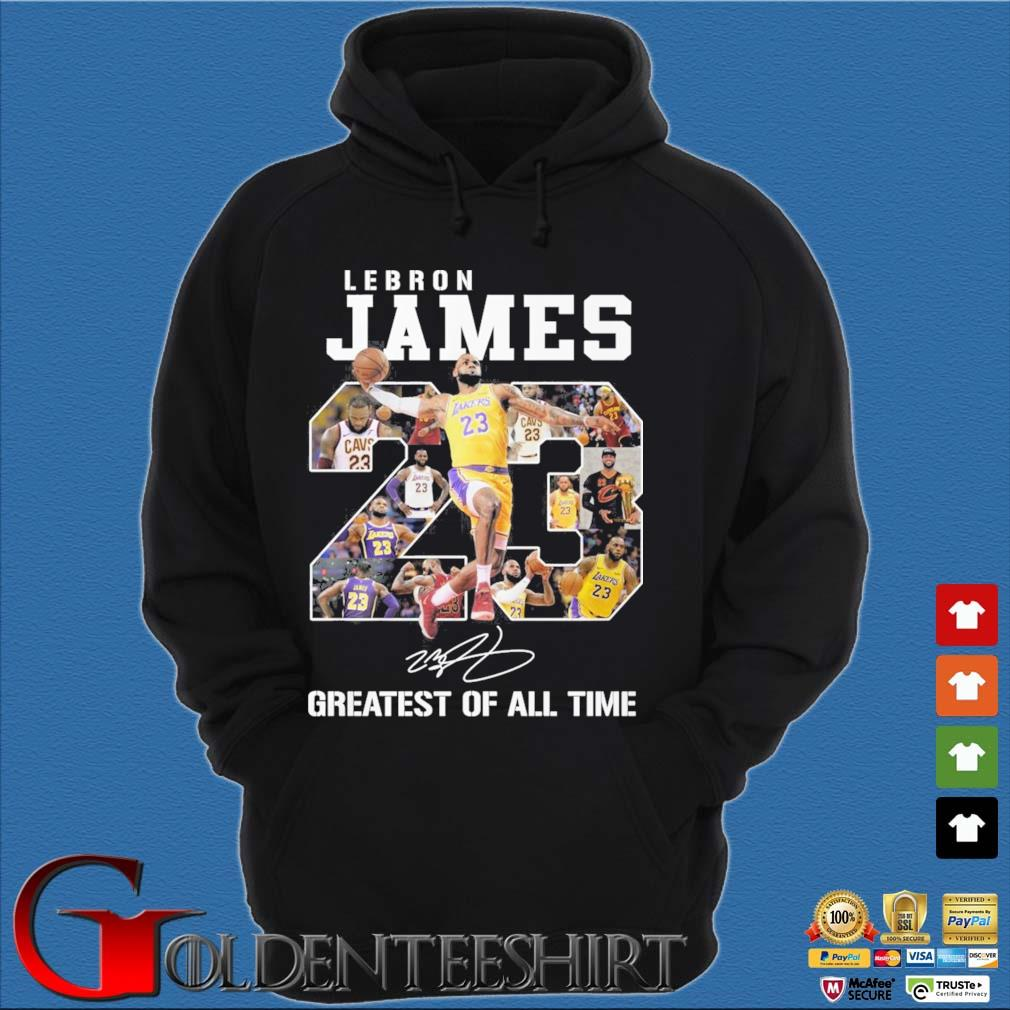 Lebron James 23 greatest of all time signature s Hoodie đen