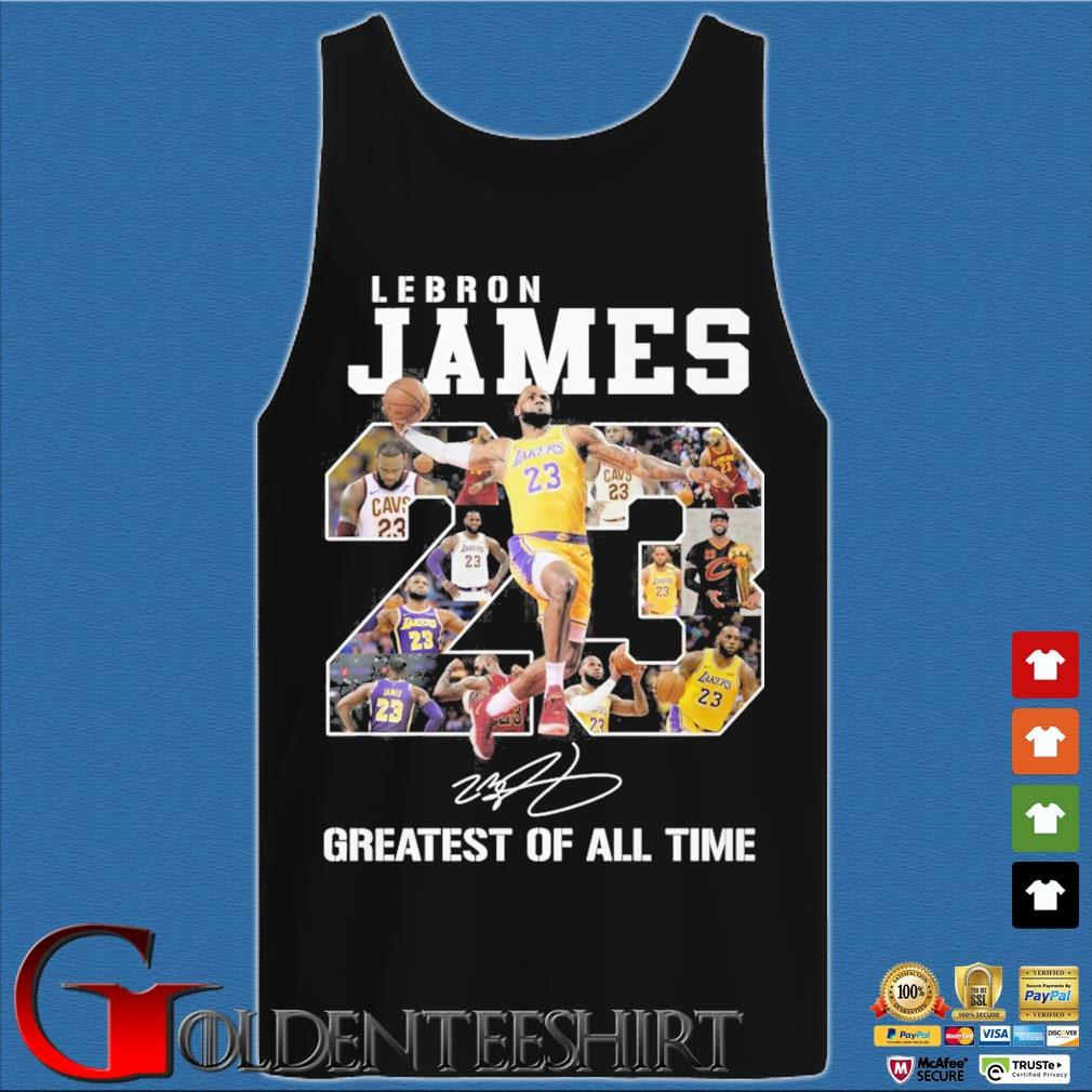Lebron James 23 greatest of all time signature s Tank top den