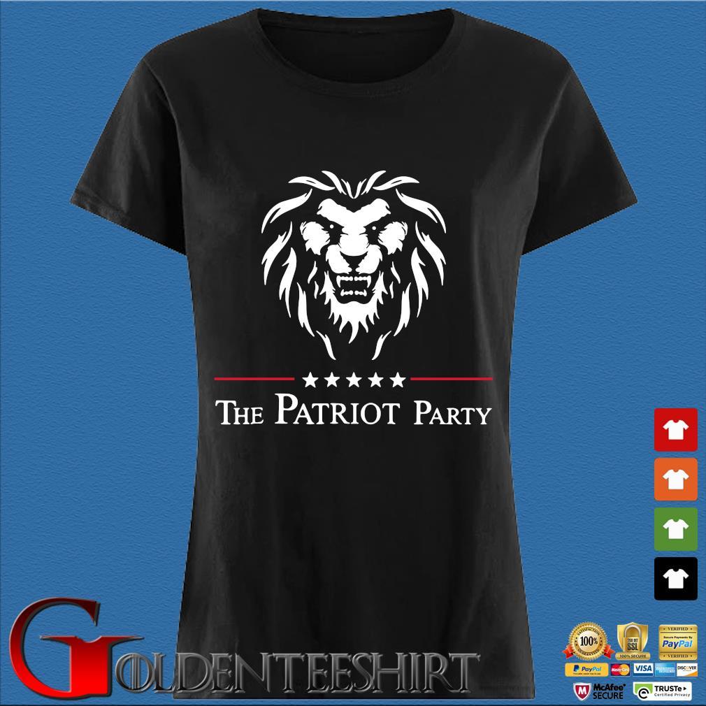Lion the patriot party tee s Den Ladies