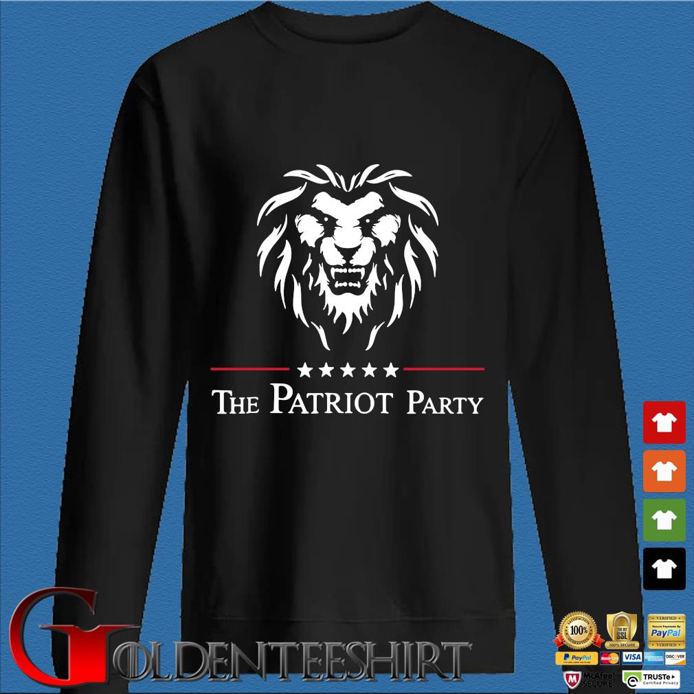 Lion the patriot party tee s Den Sweater