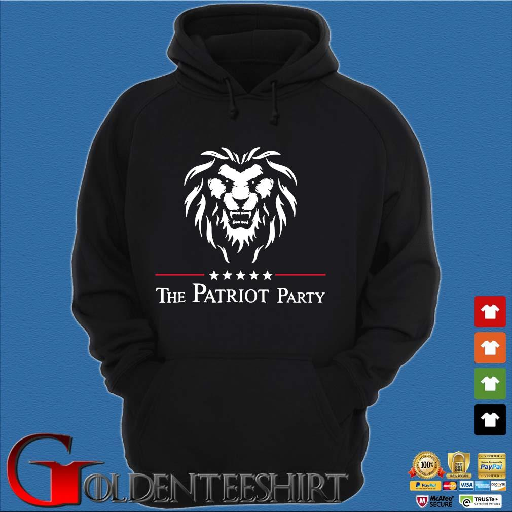 Lion the patriot party tee s Hoodie đen