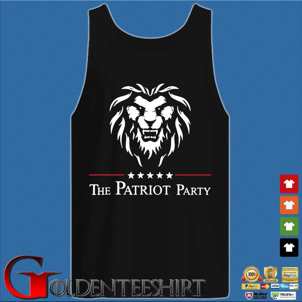 Lion the patriot party tee s Tank top den