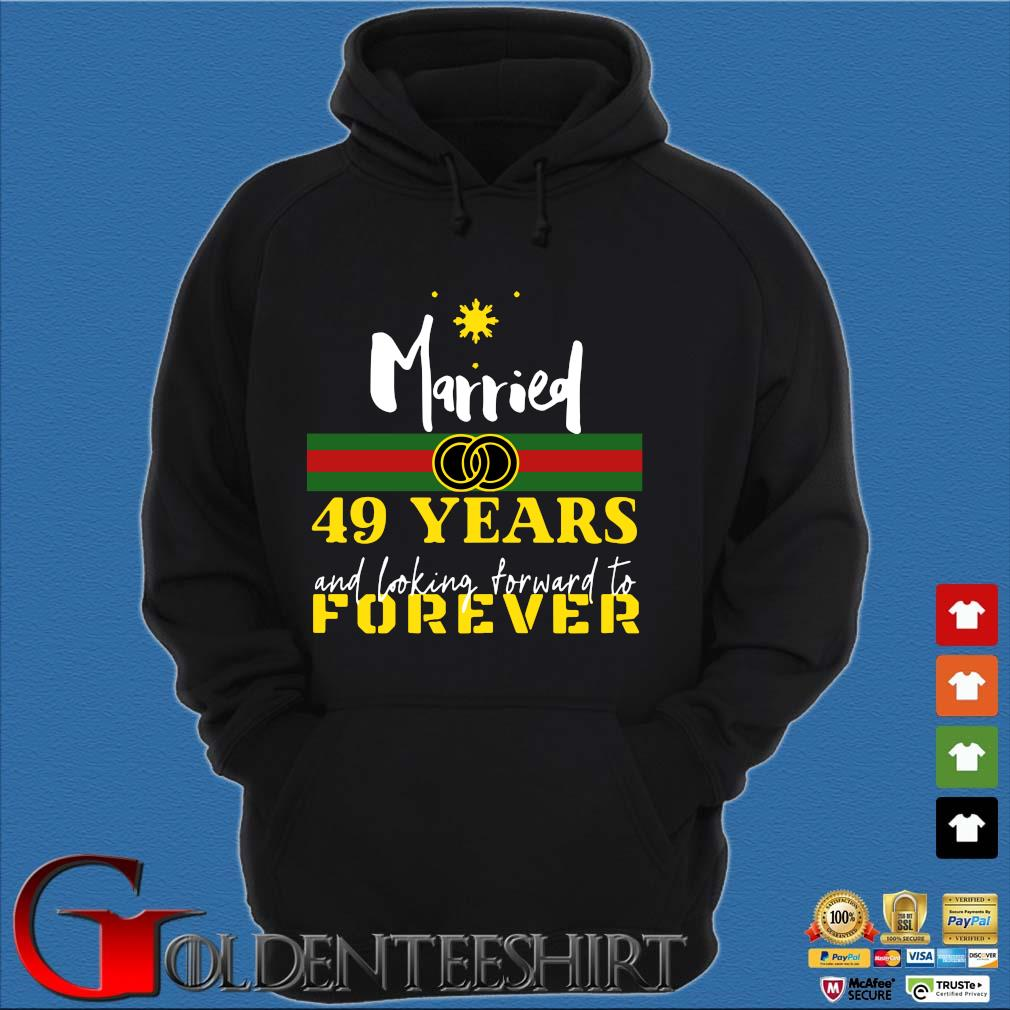 Married 49 years and looking forward to forever s Hoodie đen