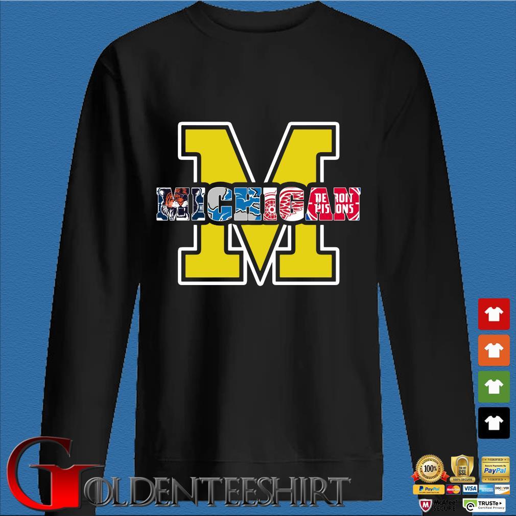 Michigan Detroit tigers Detroit Lions Detroit Red Wings Shirt Den Sweater