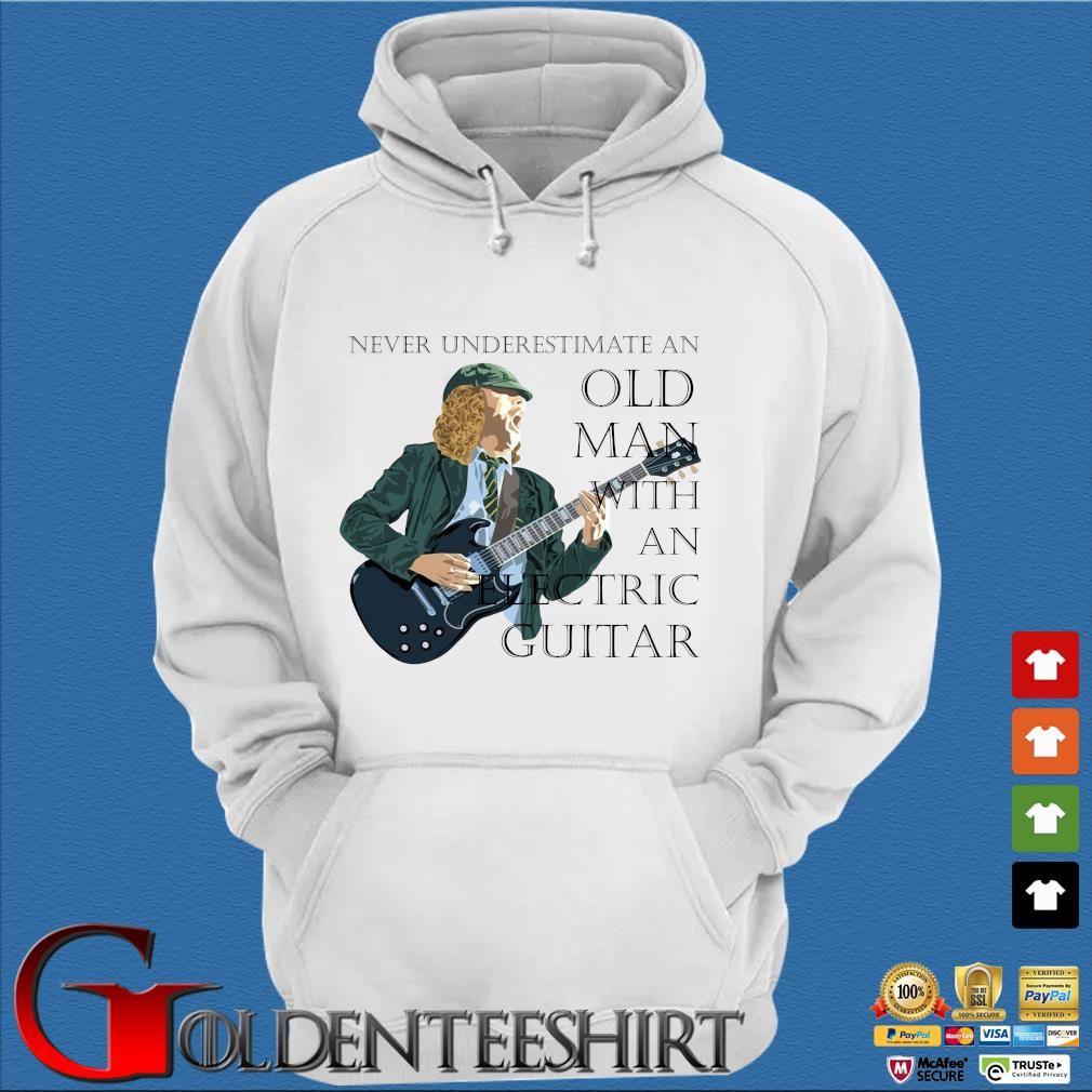 Never underestimate and old man with an electric guitar s Trang Hoodie