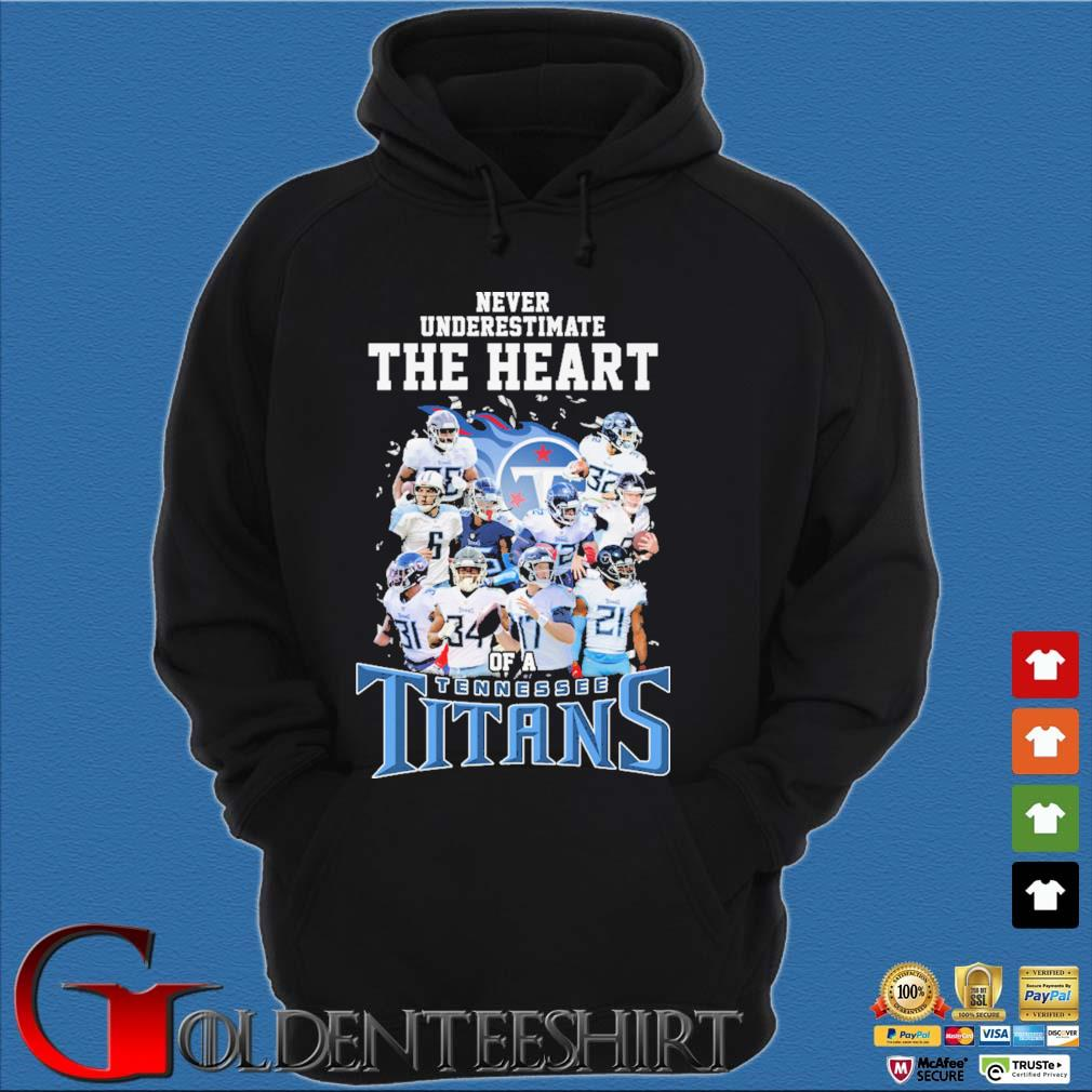 Never underestimate The Heart of a Tennessee Titans s Hoodie đen