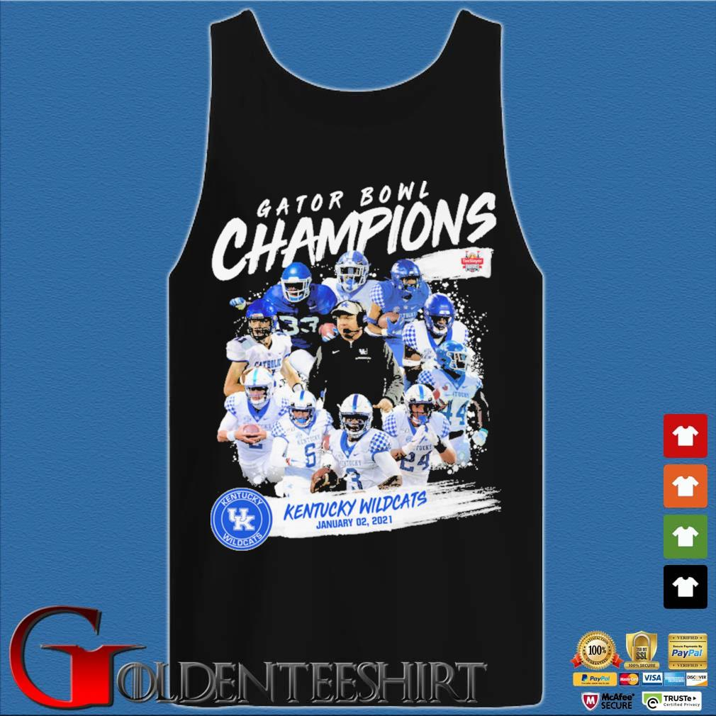 Official Gator Bowl champion kentucky wildcats january 02 2021 s Tank top den