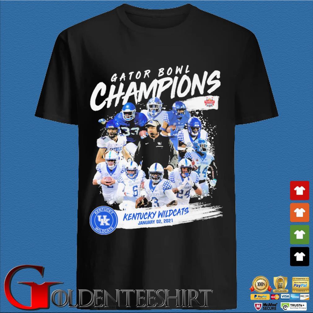 Official Gator Bowl champion kentucky wildcats january 02 2021 shirt