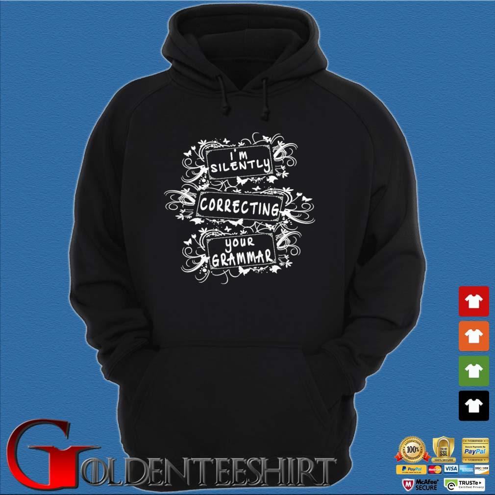 Official I am silently correcting your grammar s Hoodie đen