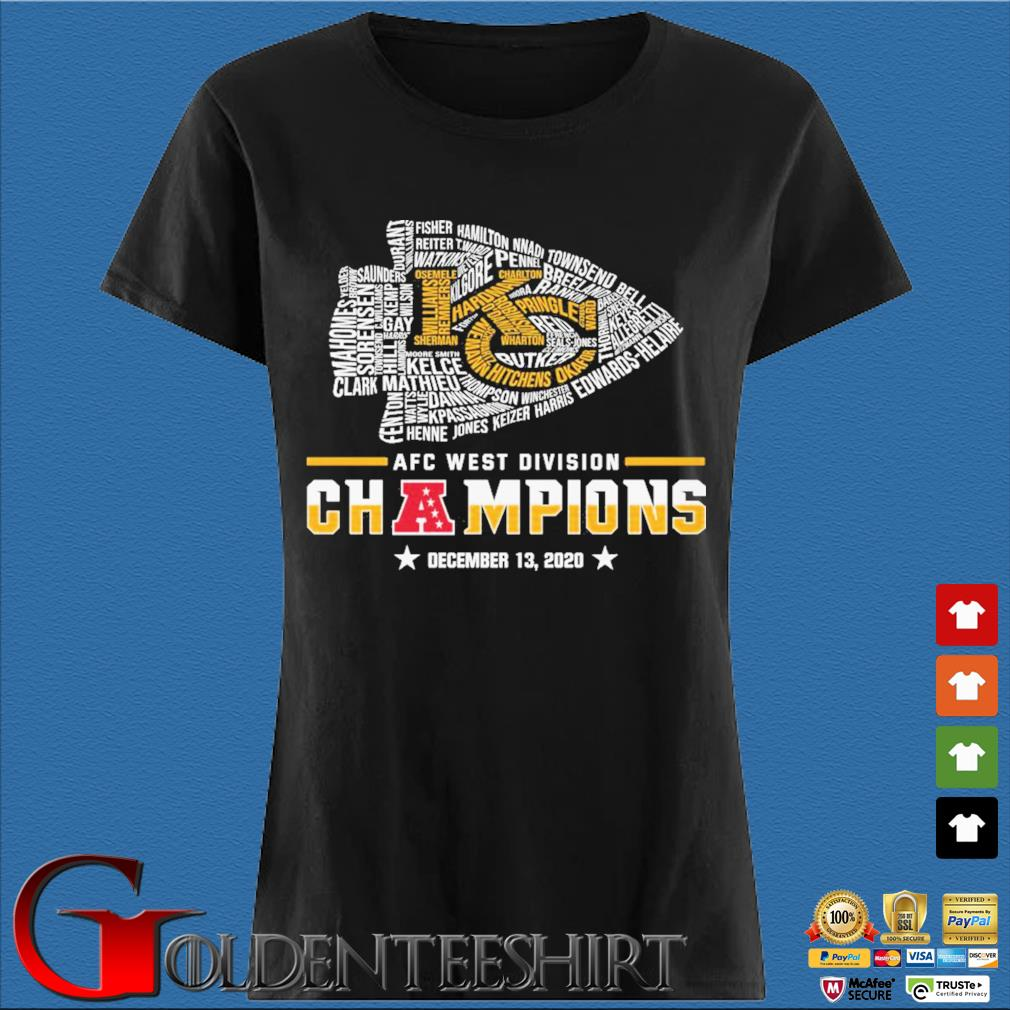 Official Kansas City Chiefs Afc west division champion december 13 2020 s Den Ladies
