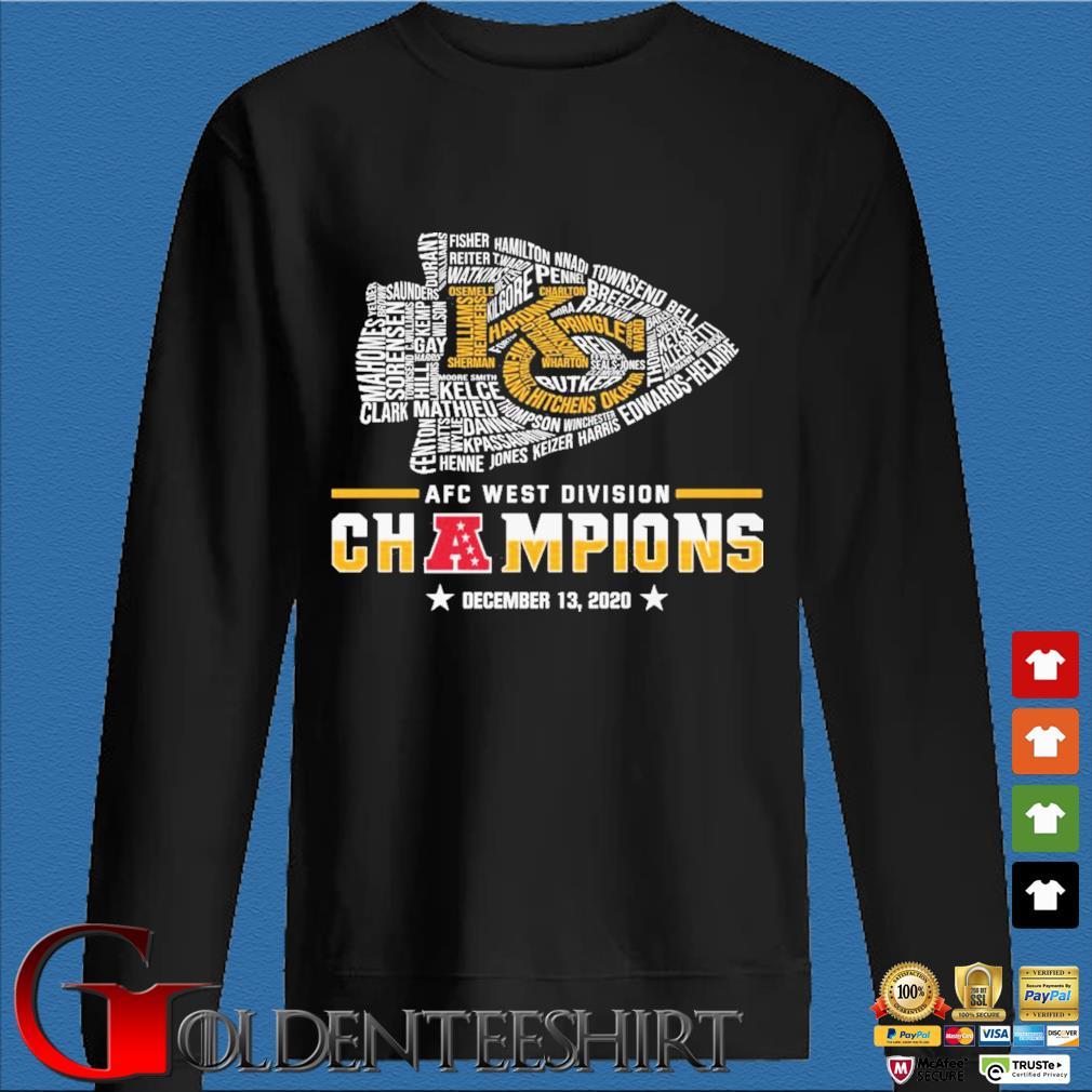 Official Kansas City Chiefs Afc west division champion december 13 2020 s Den Sweater