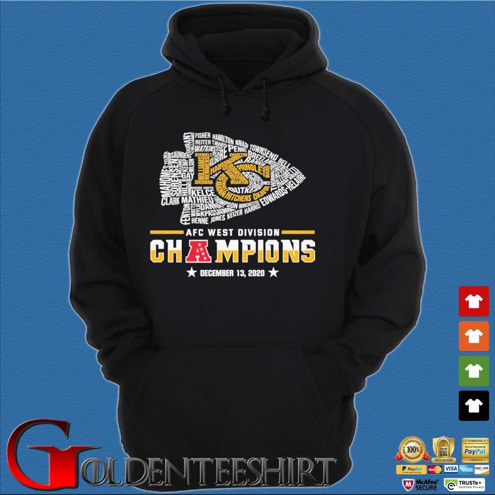 Official Kansas City Chiefs Afc west division champion december 13 2020 s Hoodie đen