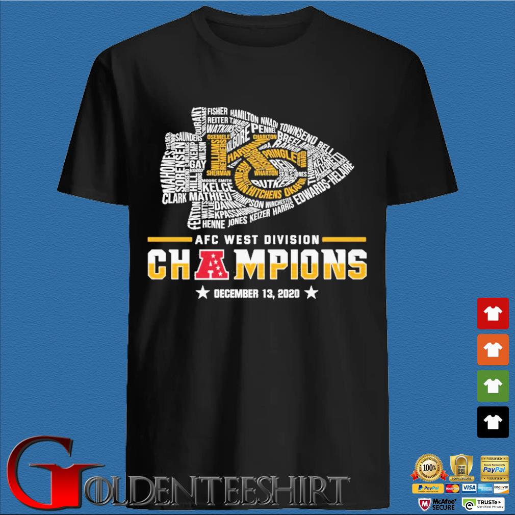 Official Kansas City Chiefs Afc west division champion december 13 2020 shirt