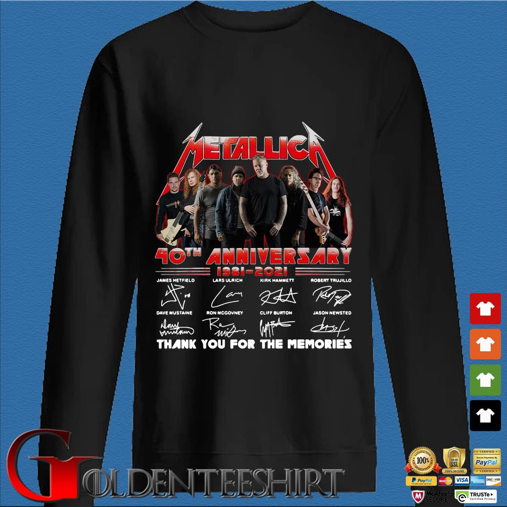 Official Metallica 40th anniversary thank you for the memories signatures sweats Den Sweater