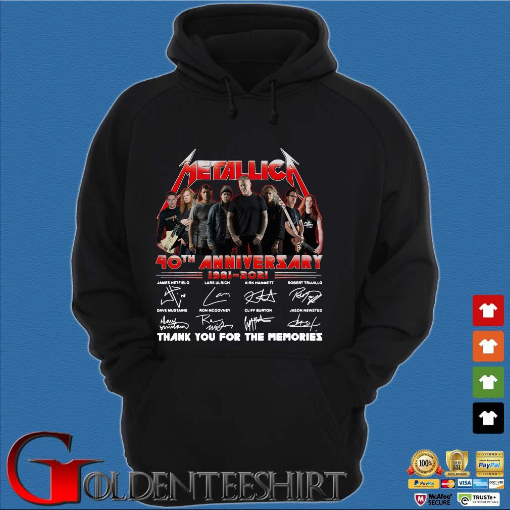 Official Metallica 40th anniversary thank you for the memories signatures sweats Hoodie đen