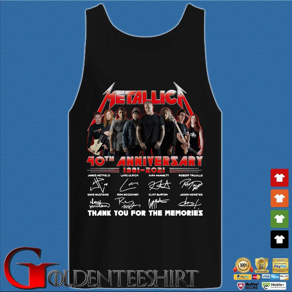 Official Metallica 40th anniversary thank you for the memories signatures sweats Tank top den