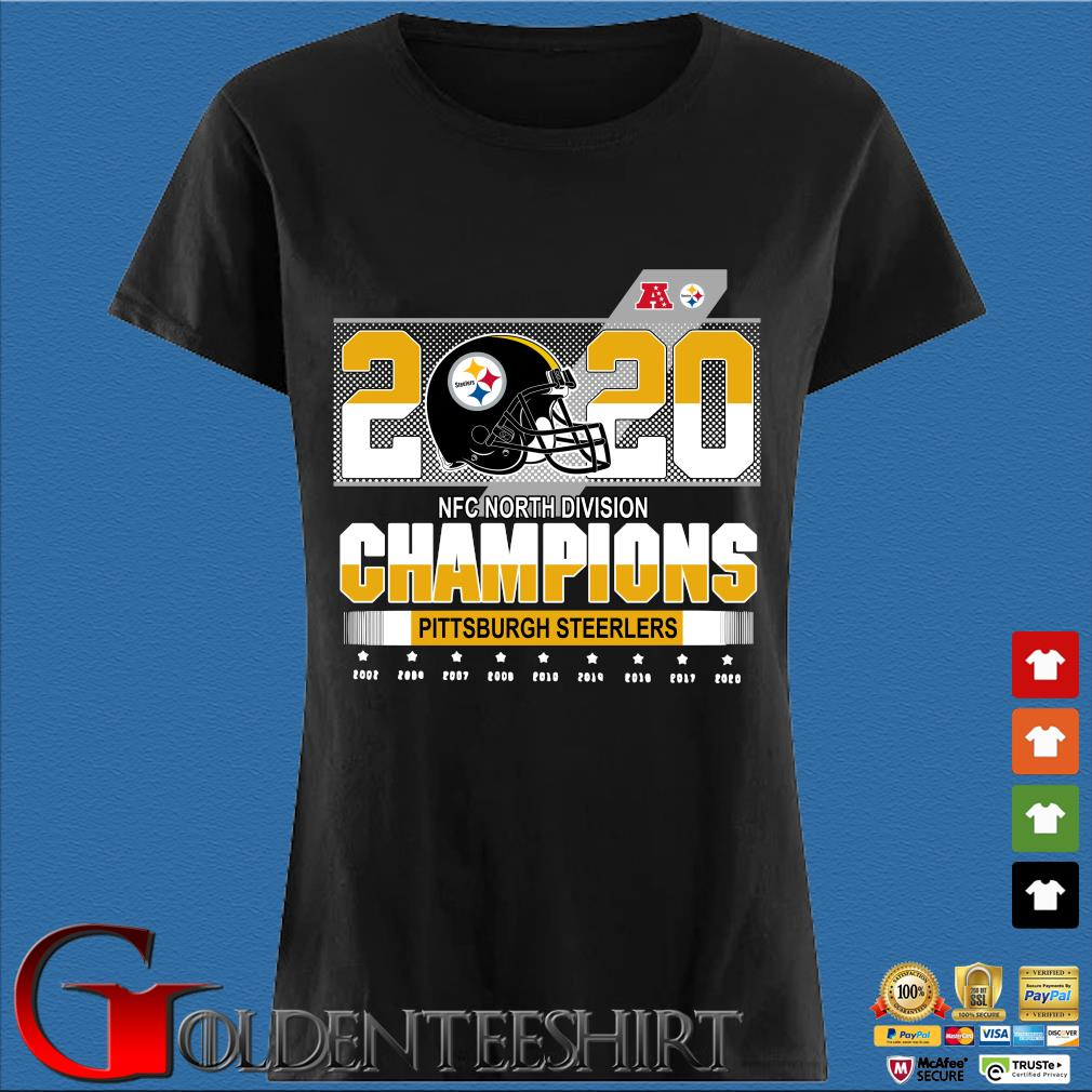 Official Pittsburgh Steelers NFC north division Champions 2002-2020 s Den Ladies