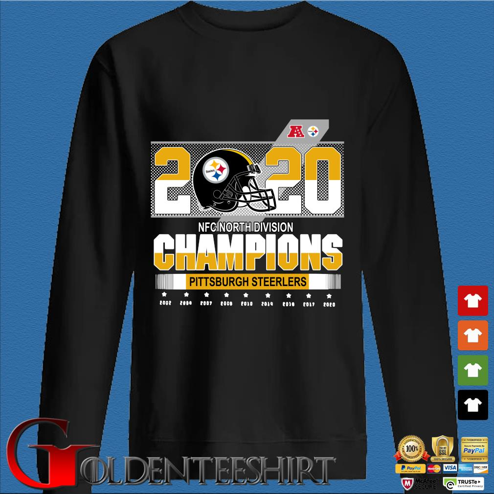Official Pittsburgh Steelers NFC north division Champions 2002-2020 s Den Sweater