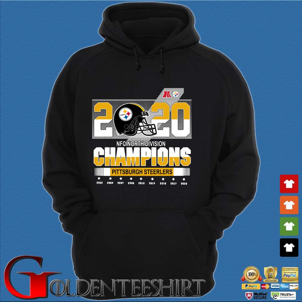 Official Pittsburgh Steelers NFC north division Champions 2002-2020 s Hoodie đen