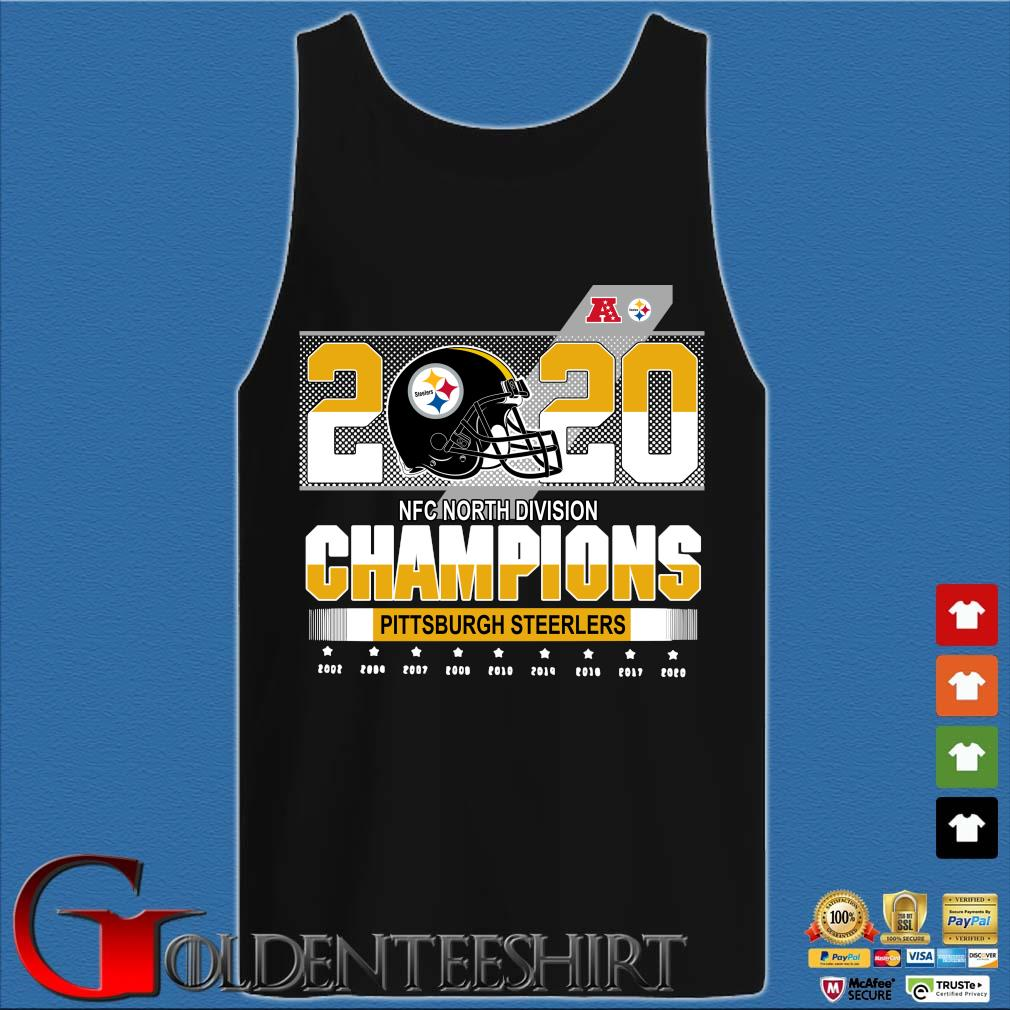 Official Pittsburgh Steelers NFC north division Champions 2002-2020 s Tank top den
