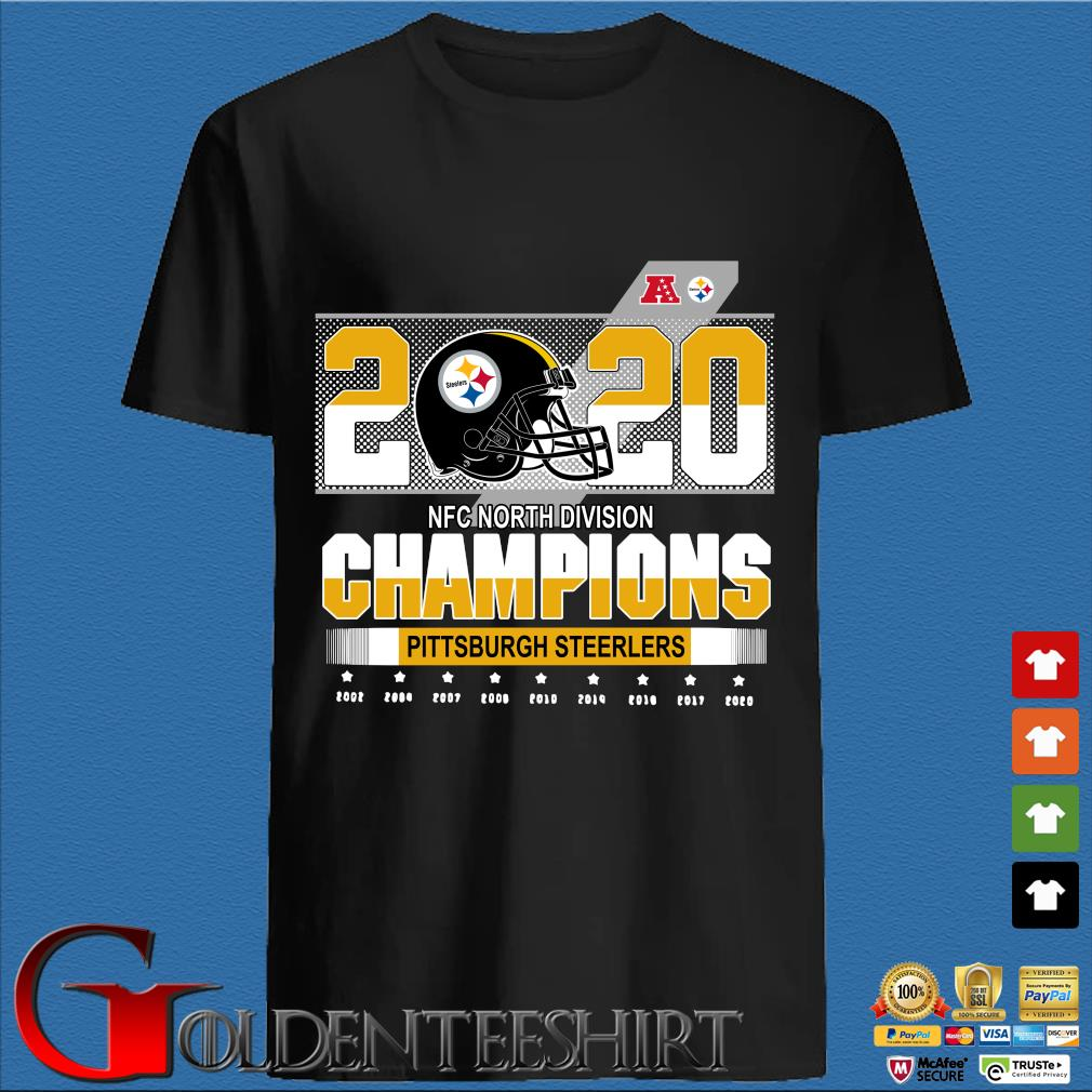 Official Pittsburgh Steelers NFC north division Champions 2002-2020 shirt