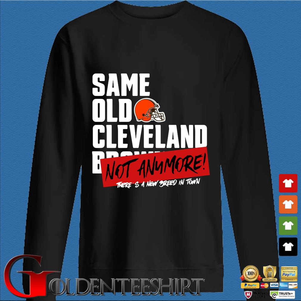 Official same old Cleveland Browns not anymore there's a new breed in town s Den Sweater