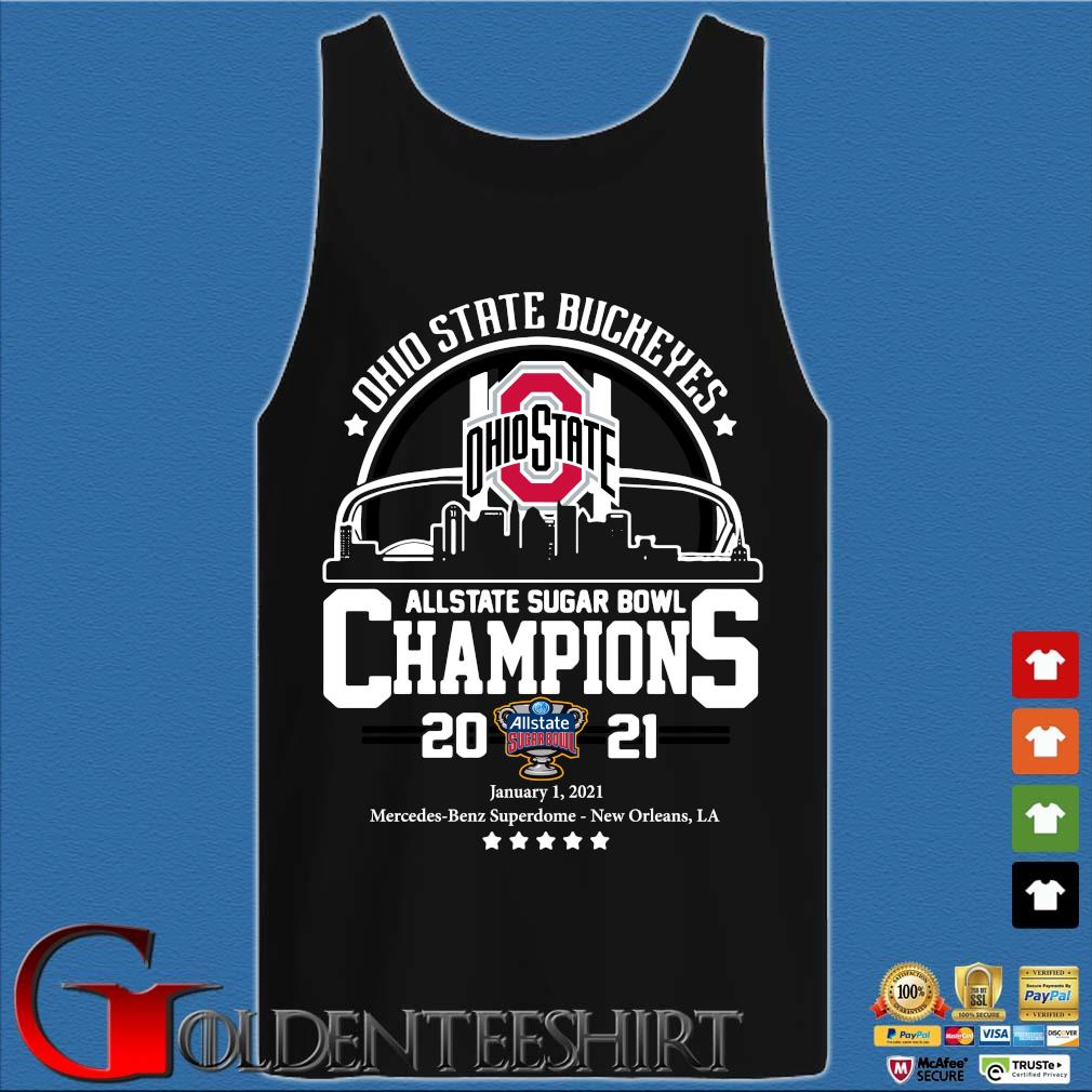 Ohio State Buckeyes allstate sugar bowl Champions 2021 s Tank top den