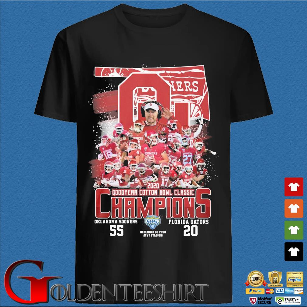 Oklahoma Sooners 2020 goodyear cotton bowl classic Champions Oklahoma Sooners Florida Gators shirt