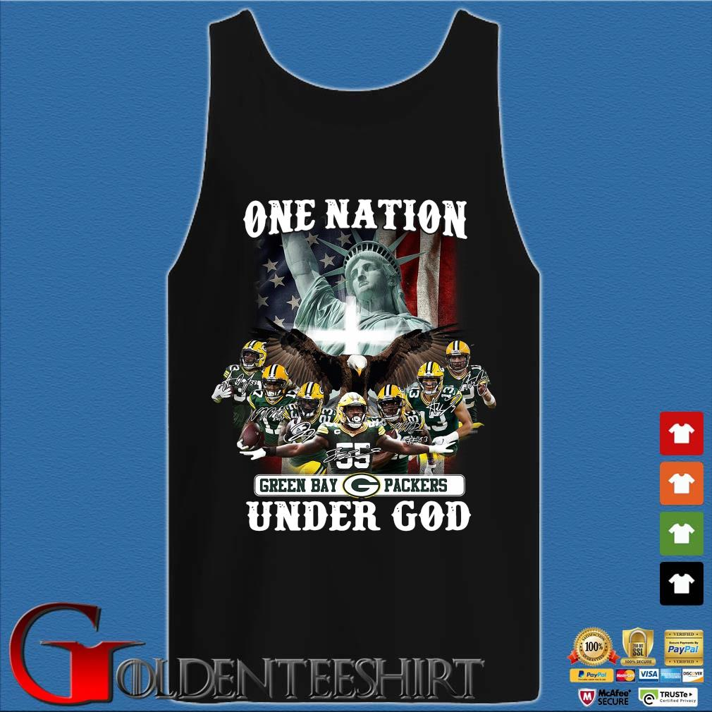 One nation Green Bay Packers under god signatures s Tank top den