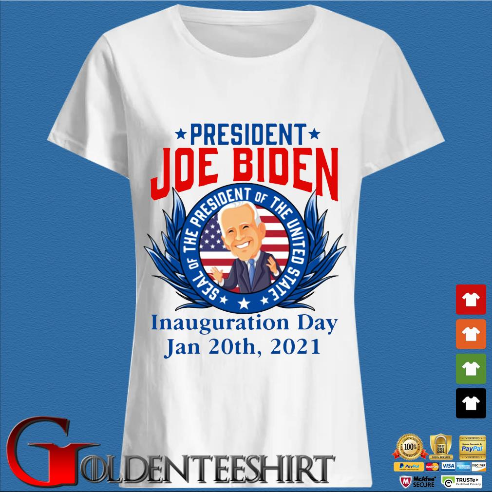 President Joe Biden seal of the President of the united state inauguration day jan 20th 2021 s Trang Ladies