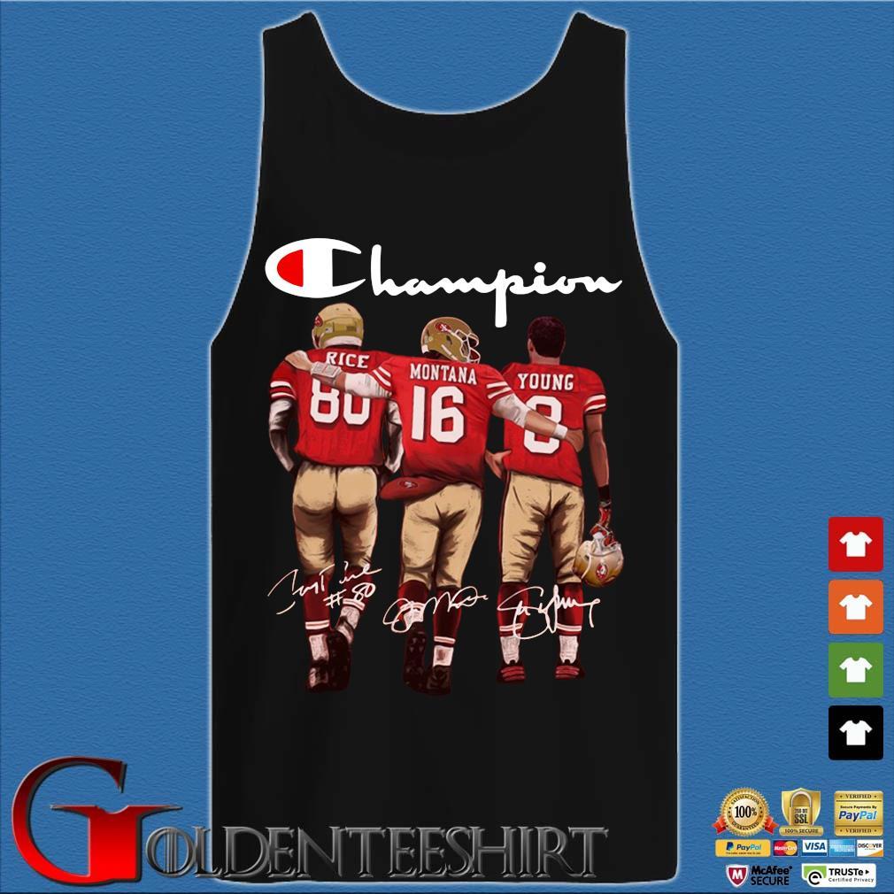 San Francisco 49ers Champion Rice Montana Young signatures s Tank top den