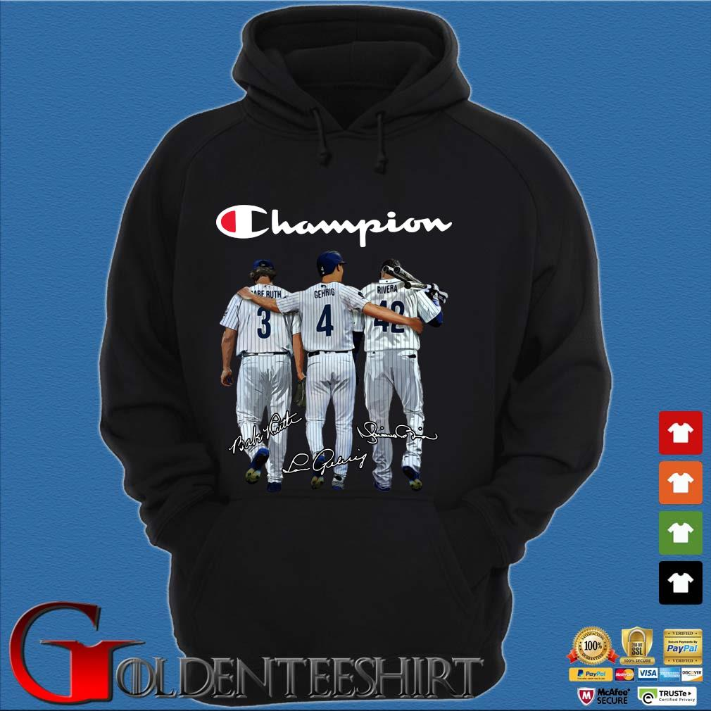 Tampa Bay Rays Champion Ruth Gehrig Rivera signatures s Hoodie đen
