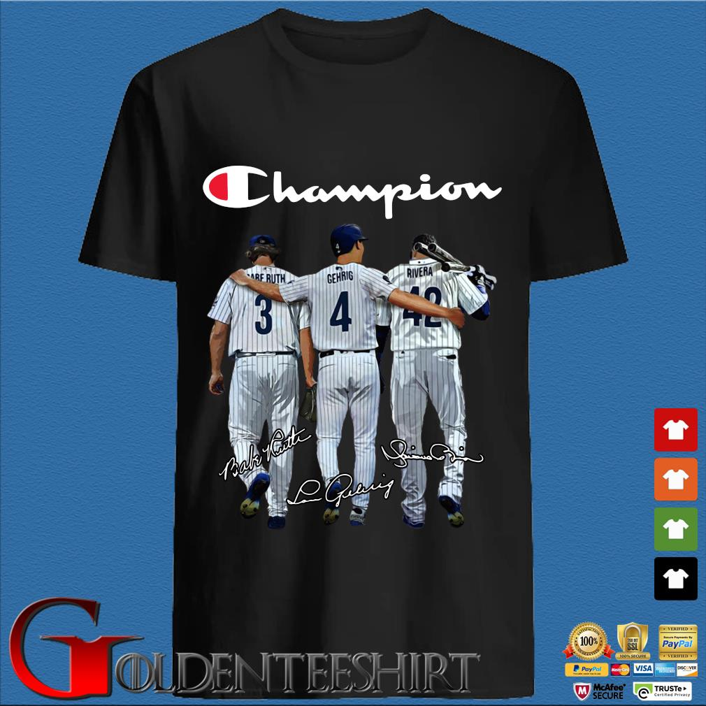 Tampa Bay Rays Champion Ruth Gehrig Rivera signatures shirt