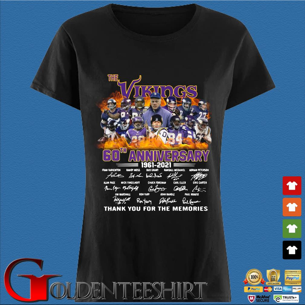 The Vikings 60th anniversary 1961 2021 thank you for the memories signatures s Den Ladies