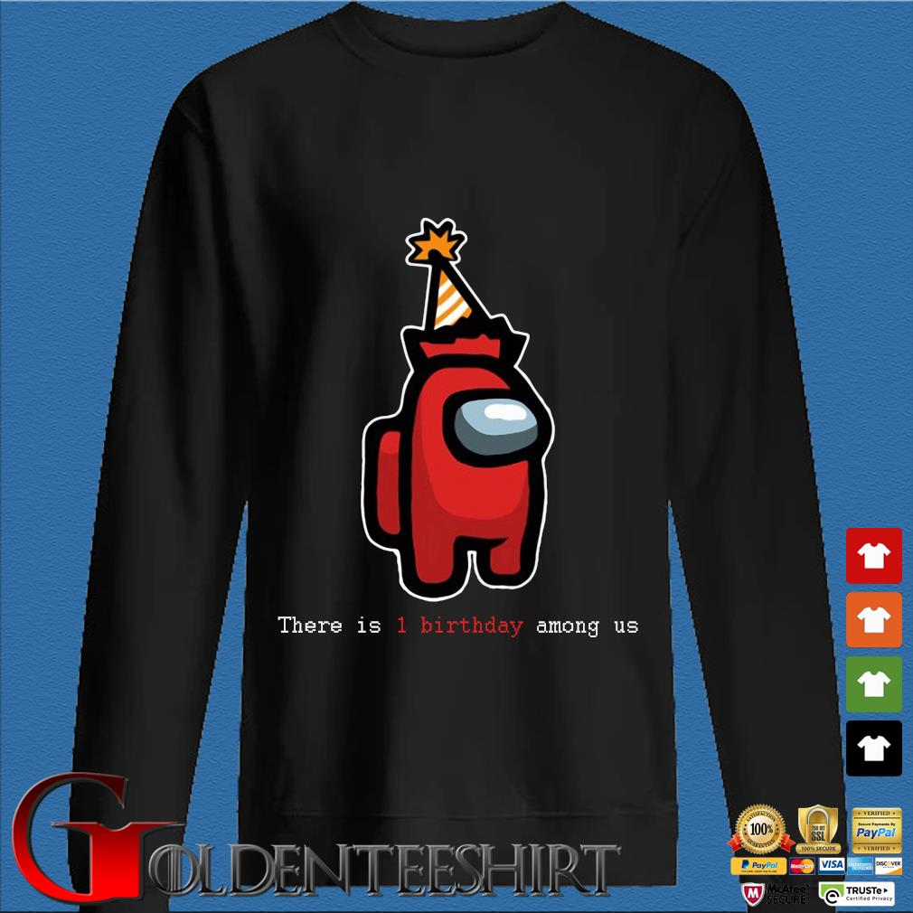 There is 1 birthday Among Us s Den Sweater
