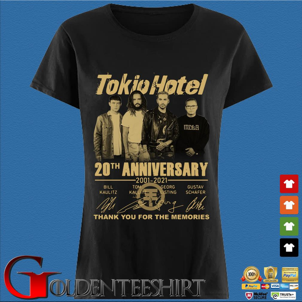 Tokio Hotel 20th anniversary 2001-2021 thank you for the memories signatures s Den Ladies
