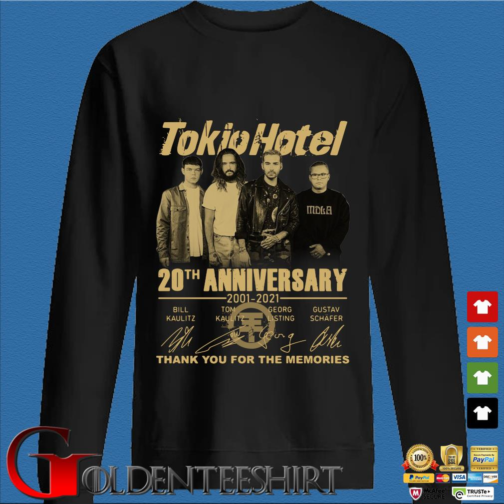 Tokio Hotel 20th anniversary 2001-2021 thank you for the memories signatures s Den Sweater