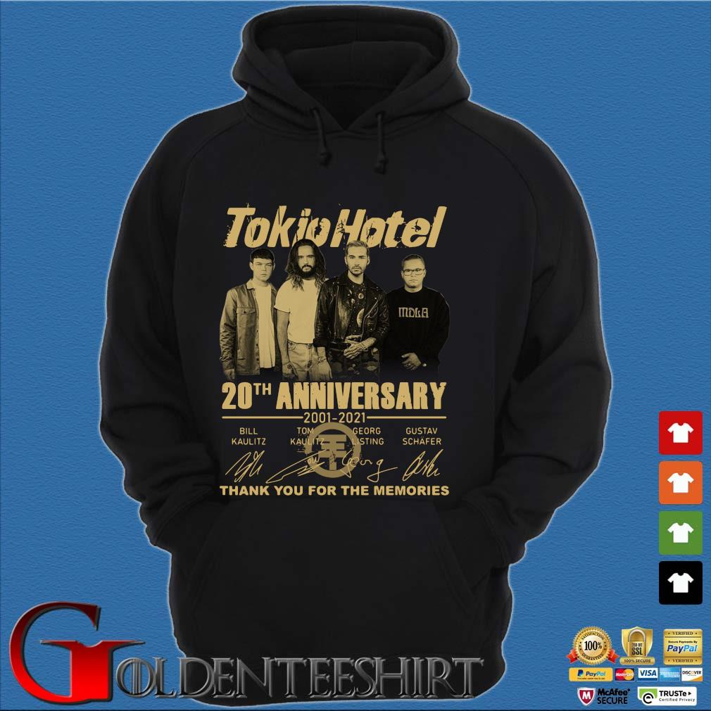 Tokio Hotel 20th anniversary 2001-2021 thank you for the memories signatures s Hoodie đen