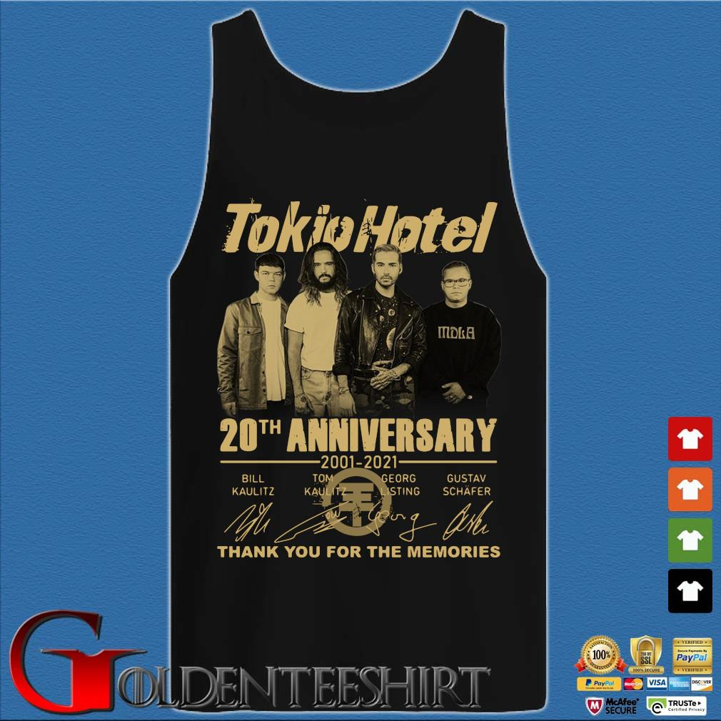 Tokio Hotel 20th anniversary 2001-2021 thank you for the memories signatures s Tank top den