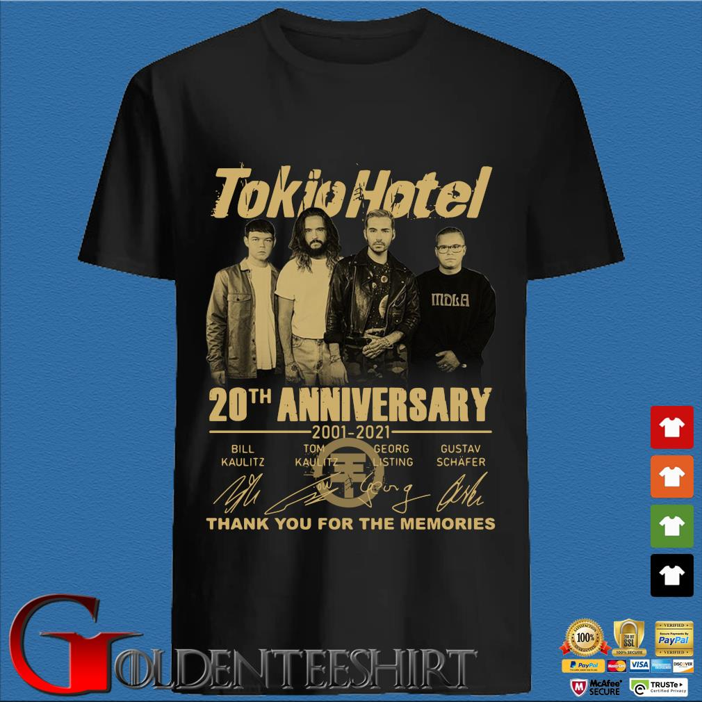 Tokio Hotel 20th anniversary 2001-2021 thank you for the memories signatures shirt