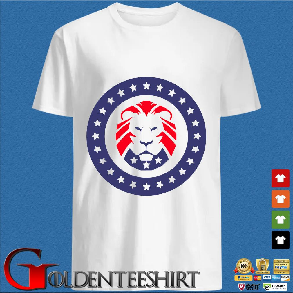 Trump 2020 MAGA Lion Flag American Shirt