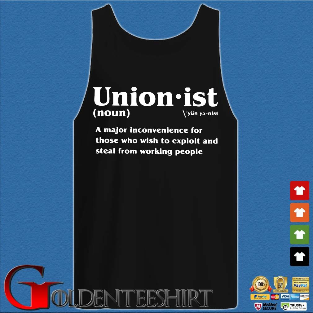 Unionist a major inconvenience for those who wish s Tank top den