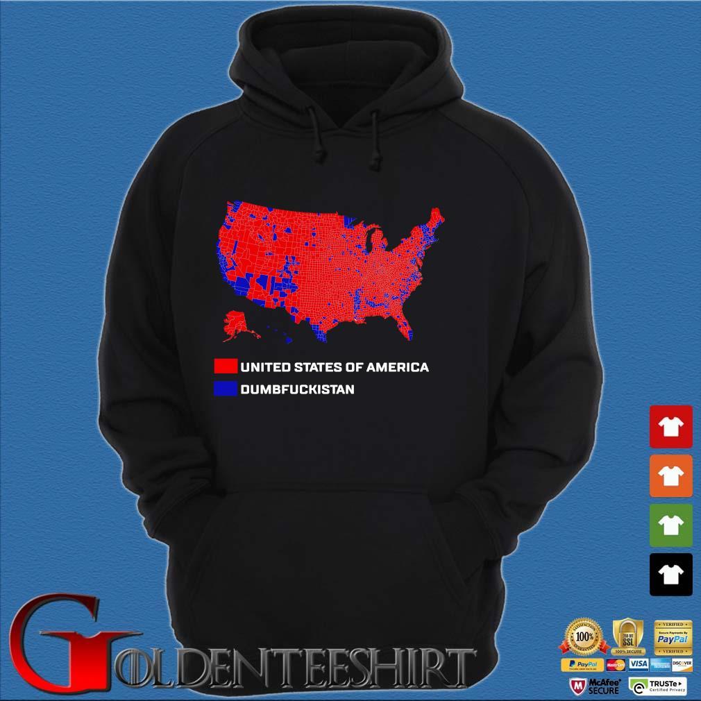 United States Of America Dumbfuckistan Shirt Hoodie đen