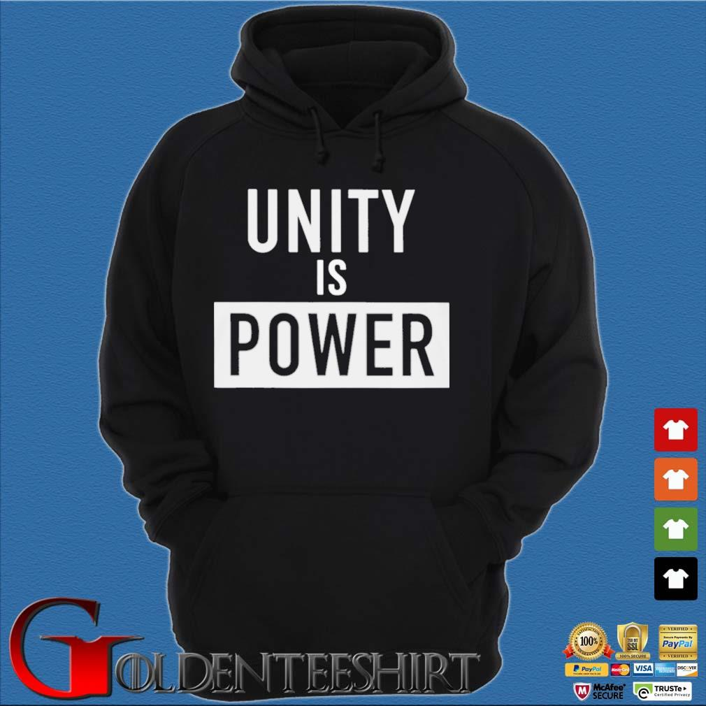 Unity Is Power Shirt Hoodie đen