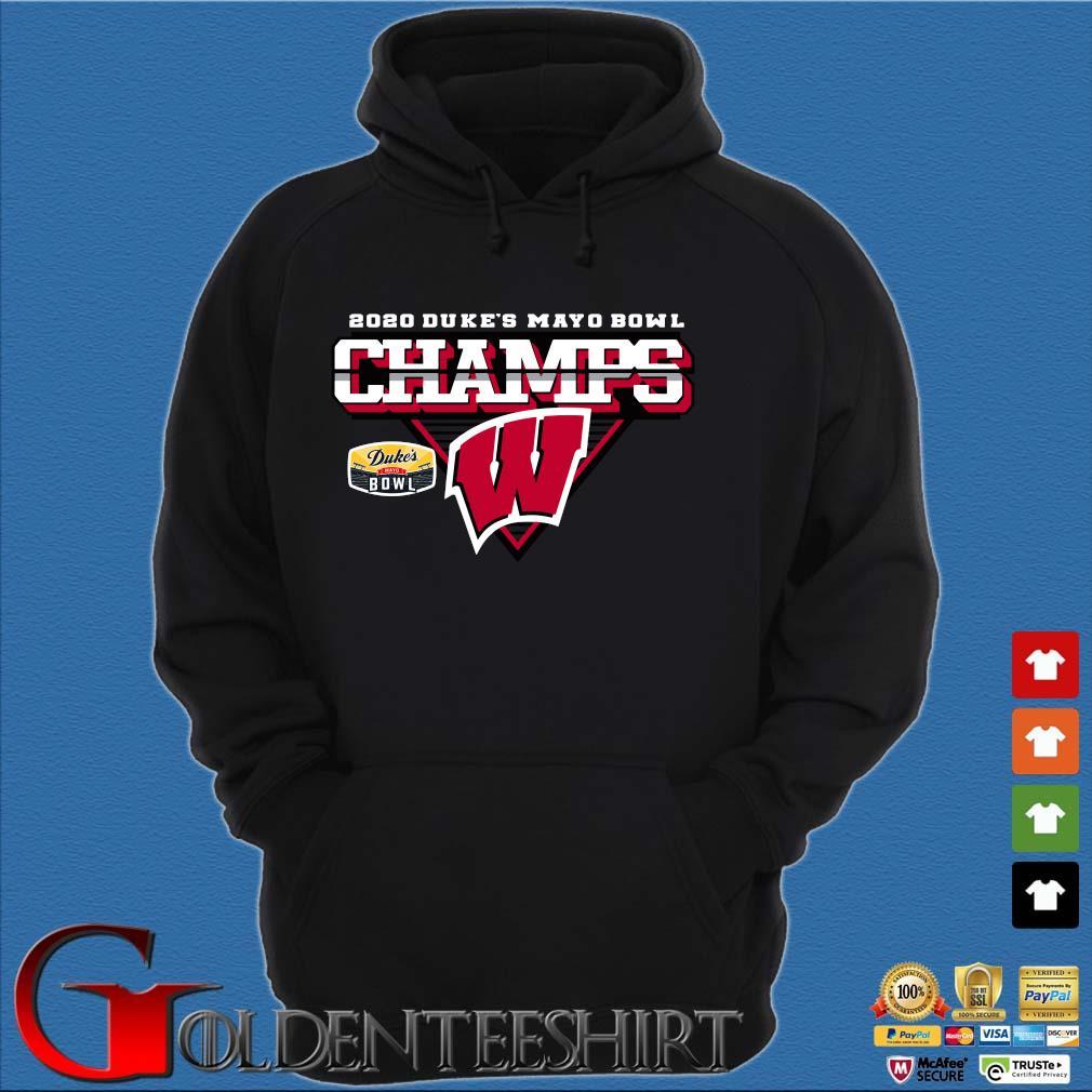 Wisconsin Badgers 2020 Duke's Mayo Bowl Champions Shirt Hoodie đen