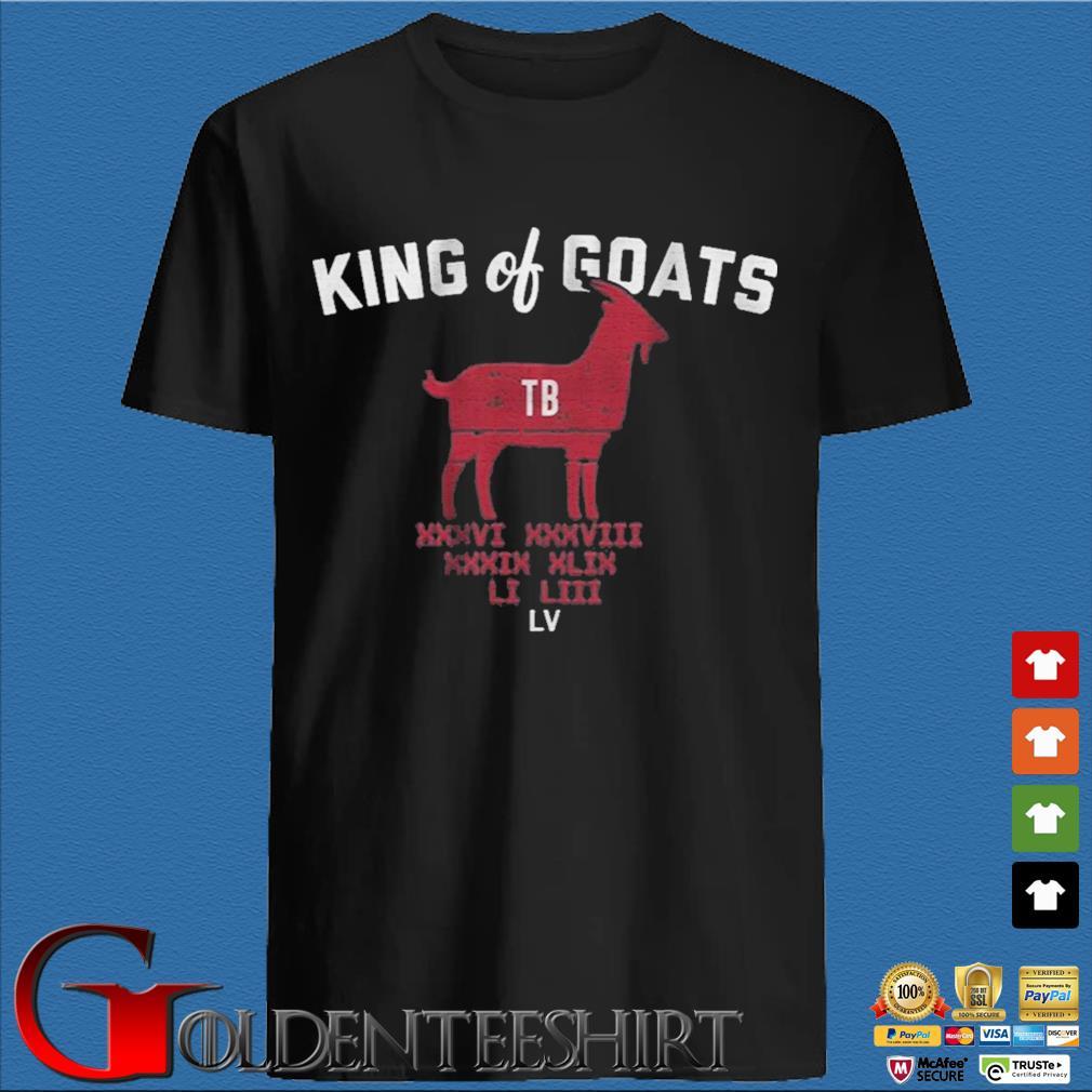 Tom Brady king of goats shirt