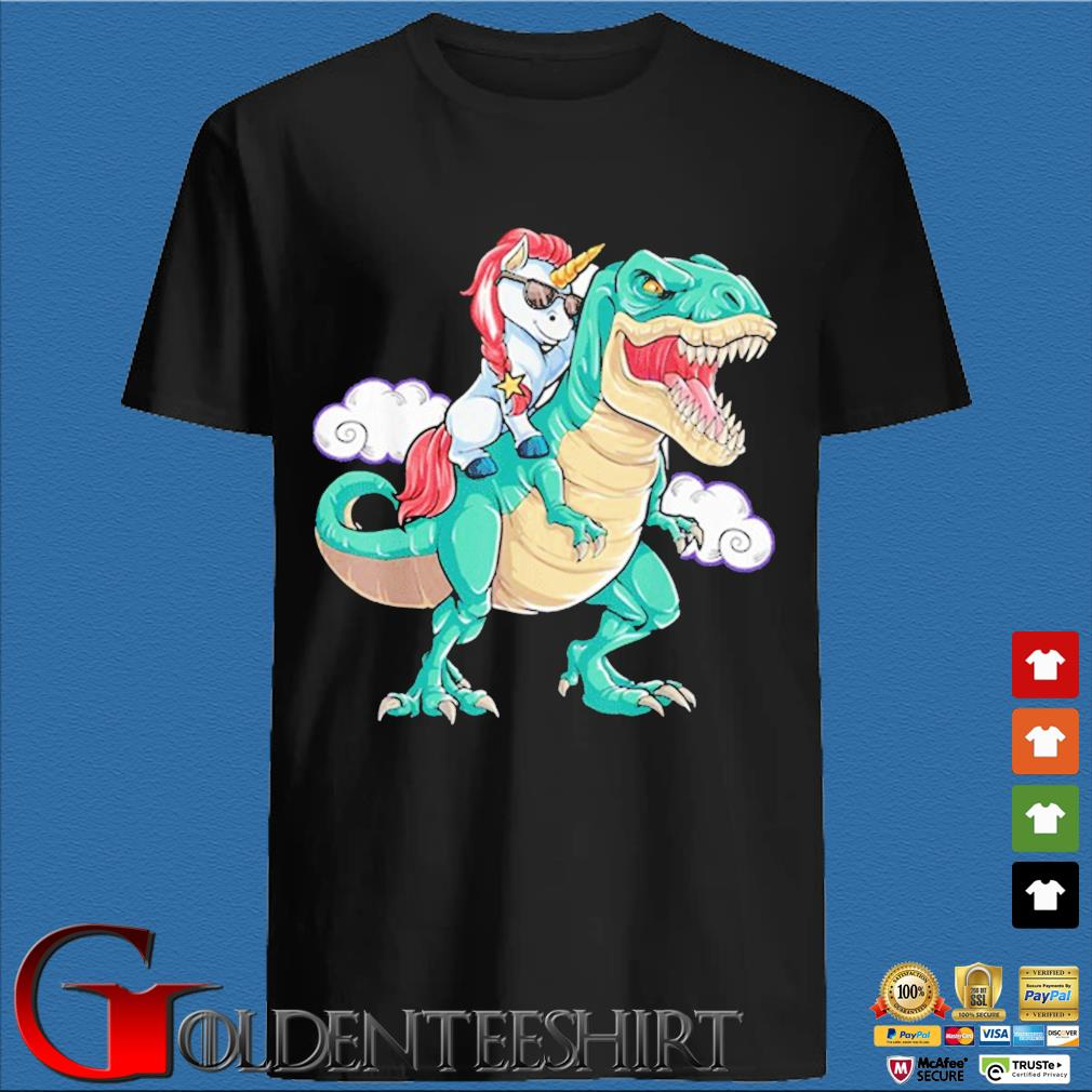 Unicorn T-Rex Dinosaur Kids Boys Girls Shirt